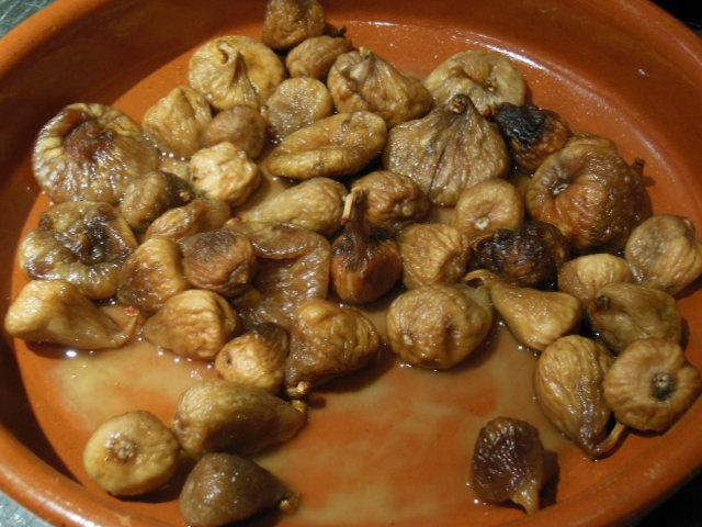 figs soaking in Bacardi