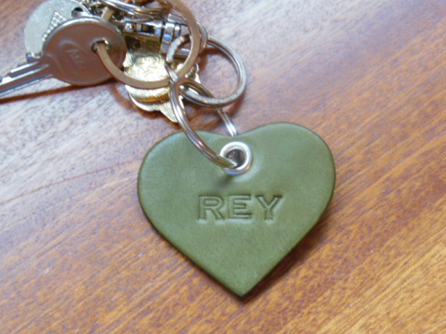 Lether key ring