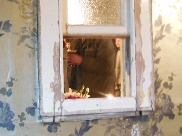 beer through the window