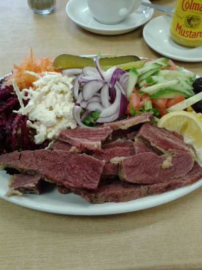 Fantastic hot salt beef salad